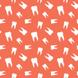 Seamless Molar Teeth Dental Pattern. Background Stock Images