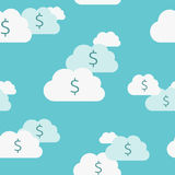 Seamless money clouds Royalty Free Stock Photo
