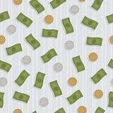 Seamless money pattern Stock Photos