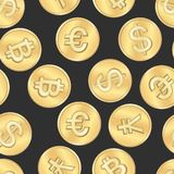 Seamless money payment coins pattern Stock Photography