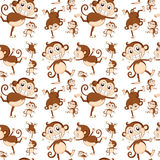Seamless monkey Royalty Free Stock Image