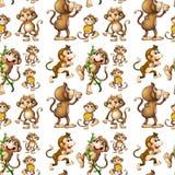 Seamless monkey Stock Photo