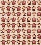 Seamless monkey pattern. Vector Illustration. Royalty Free Stock Photo