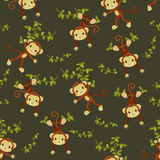 Seamless monkeys wallpaper Stock Image