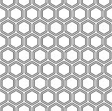 Seamless monochromatic hexagon pattern Stock Photos