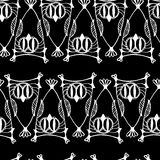Seamless monochrome abstract decor pattern Royalty Free Stock Images