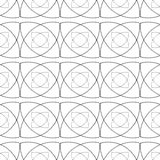 Seamless monochrome abstract patterns Stock Photos