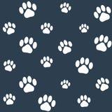 Seamless monochrome cat paws pattern Royalty Free Stock Image