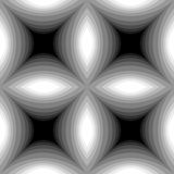 Seamless Monochrome Concave Rectangles Pattern Stock Image
