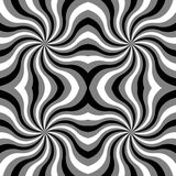 Seamless  Monochrome Curls Pattern. Monochrome Geometric Abstract Background.   Stock Image
