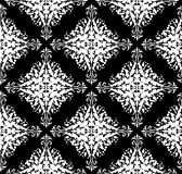 Seamless monochrome damask pattern Stock Photos