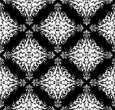 Seamless monochrome damask pattern. Monochrome seamless damask pattern. Background Stock Photos