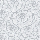 Seamless monochrome floral background Stock Image