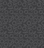 Seamless monochrome floral pattern Stock Photography