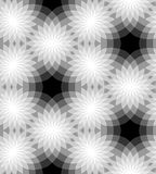 Seamless Monochrome Floral Pattern.  Geometric Abstract Background. Suitable for textile, fabric and packaging Stock Image