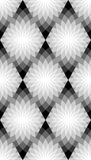 Seamless Monochrome Floral Pattern.  Geometric Abstract Background. Suitable for textile, fabric and packaging Royalty Free Stock Image