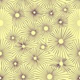 Seamless monochrome flower pattern Stock Photos