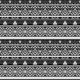 Seamless monochrome folk ethno pattern Stock Photo