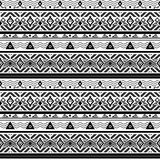 Seamless monochrome folk ethno pattern Royalty Free Stock Photo