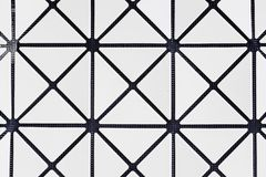 Seamless Monochrome Geometric Pattern Stock Images