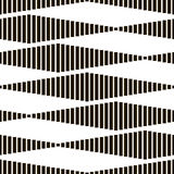 Seamless Monochrome Geometric Pattern Stock Photography