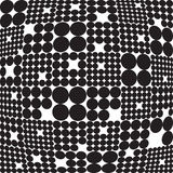 Seamless Monochrome Geometric Pattern Stock Photos
