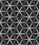Seamless monochrome geometrical design of six-pointed stars on a Stock Image