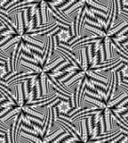 Seamless Monochrome Geometrical Pattern create the illusion of depth and volume. Royalty Free Stock Image