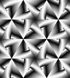 Seamless Monochrome  Geometrical Pattern Gently Shimmering from Light to Dark Tones  create the illusion of depth and volume. Royalty Free Stock Photography