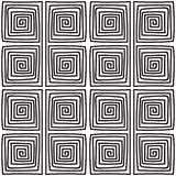 Seamless monochrome meander pattern Royalty Free Stock Photography
