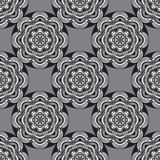 Seamless monochrome ornament Royalty Free Stock Images