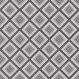 Seamless monochrome  ornament squares. Seamless monochrome pattern, squares of black-and-white- illustration Royalty Free Stock Photography