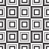 Seamless monochrome  ornament squares Royalty Free Stock Image