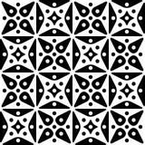 Seamless Monochrome Ornamental Wallpaper Stock Photos