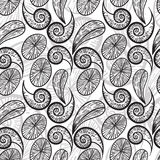 Seamless  monochrome pattern Royalty Free Stock Photos