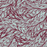 Seamless monochrome pattern with abstract feathers Royalty Free Stock Images