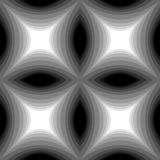 Seamless Monochrome Pattern of Concave Rectangle  Stock Photography