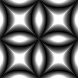 Seamless Monochrome Pattern of Concave Rectangles Royalty Free Stock Images