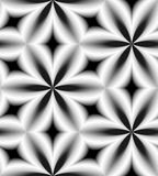 Seamless Monochrome  Pattern Of Curved Diamonds. Geometric Abstract Background. Visual Volume Effect. Stock Image