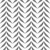 Seamless monochrome pattern of feathers-11 Royalty Free Stock Photo