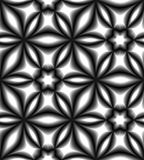 Seamless Monochrome Pattern Gently Shimmering from light to dark Tones.Visual Volume Effect. Royalty Free Stock Images