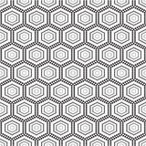 Seamless monochrome pattern geometric  with circles Royalty Free Stock Photography