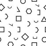 Seamless monochrome pattern with geometric shapes Stock Image