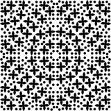 Seamless Monochrome seamless pattern, geometric vector texture, smooth royalty free illustration