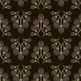 Seamless monochrome pattern graphic ornament. Floral stylish bac Stock Images
