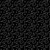 Seamless monochrome pattern with hearts and dots. Vector repeating texture. Perfect for printing on fabric or paper vector illustration