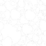 Seamless monochrome pattern with hearts Royalty Free Stock Image