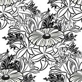 Seamless monochrome pattern Stock Photos