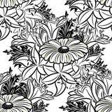 Seamless monochrome pattern Stock Photos