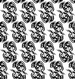 Seamless monochrome pattern with stylized dragons. Seamless monochrome pattern with stylized chinese dragons vector illustration